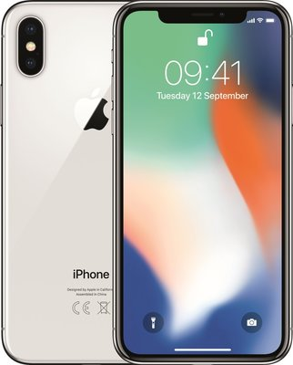 Apple iPhone X 256GB simlockvrij white silver + 1 jaar garantie