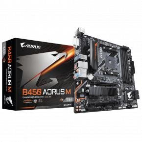 Gigabyte B450 AORUS M [uATX, AMD AM4, B450, 4x DDR4 DIMM 3200Mhz, Quad-CF, USB3.1 Gen2, M.2 NVME]