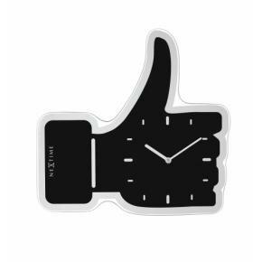NeXtime 3072zw Thumbs up [40.5x41.cm, Black/ Silver]