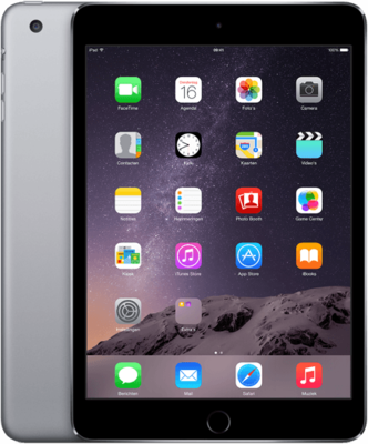 "*gratis beschermhoes* Apple iPad 7.9"" mini 3 space grey 16GB wifi (4G) + garantie"