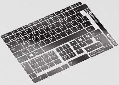 Azerty laptop keyboard layout stickervel