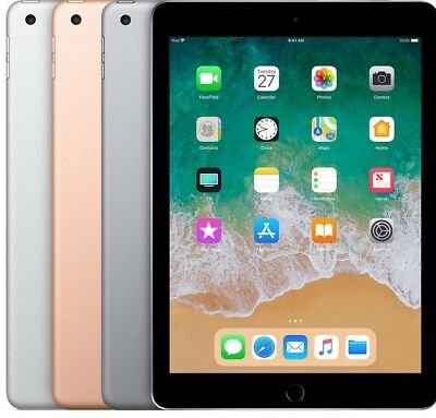"thuiswerk/studie actie Apple iPad 6 9.7"" 32/128GB WiFi (4G) space silver gold rose + garantie"