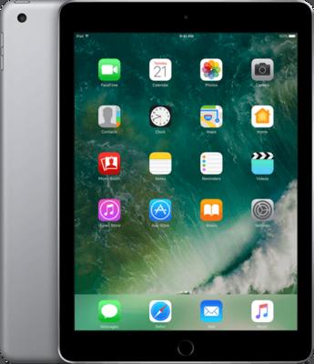 thuiswerk/studie actie Apple iPad 5 (2017) 32GB space grey Wifi (4G) + garantie
