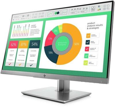 "thuiswerk/studie actie Hp elite display E223 21.5"" LED IPS hdmi, dvi + garantie"