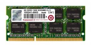 Transcend TS512MSK64V6N SO-DIMM [4GB DDR3-1600 SO-DIMM, CL11, 1.5V]