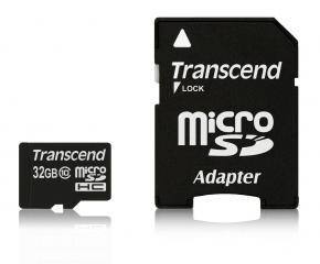 Transcend TS32GUSDHC10 micro SDHC Card [32GB Class 10 (met adapter)]