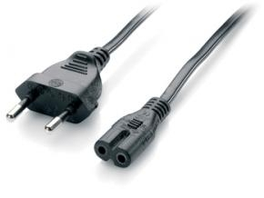 Equip 112160 Power Cable Euro [1,80m, 2-pin -> 3-pin IEC 60320 (C7), black]