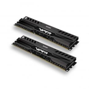 Patriot PV38G186C0K VIPER 3 BLACK MAMBA DUAL KIT [8GB, DDR3, 1866MHZ, CL10, 1.5V, Heatspreader]