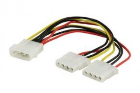 Cable ATX MOLEX [1x 5,25 inch male to 2x 5,25 inch female 4-pim 20cm]