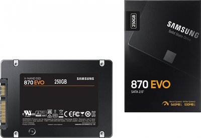 Opruiming Samsung SSD SATA-3 870 Evo 250GB 2,5