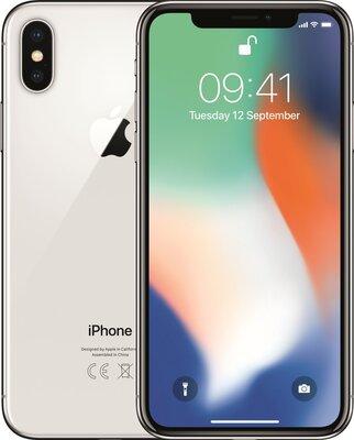 Apple iPhone X 256GB zilver simlockvrij (ios 14+) garantie