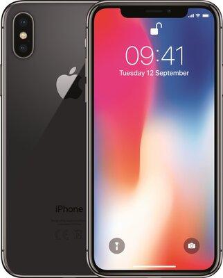 Apple iPhone X 256GB zwart space grey black simlockvrij (ios 14+) garantie