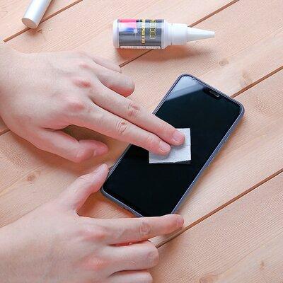 Verwijder beeldscherm krasjes iphone