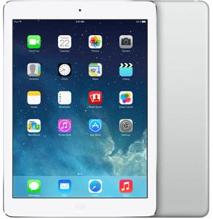 "iPad Air 9.7"" 32GB wit zilver (Dual Core 1.3Ghz - 2048x1536) WiFi (4G) IOS 12 + garantie"