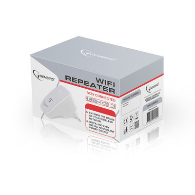 Gembird WiFi repeater, 300 Mbps, WPS button