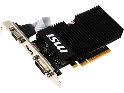Gamers videokaart MSI GT710 1GB PCI-E 2.0 HDMI DVI-D