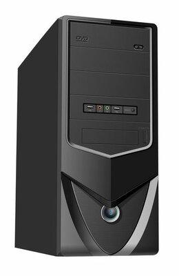 No-name Midi-tower ATX P4 computerkast met geïntegreerde noodstroomvoorziening, zonder voeding