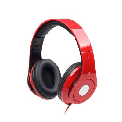 "GMB-Audio Stereo headset met microfoon ""Detroit"" rood"