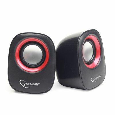 Gembird Speaker Set 2.0  Zwart/Rood