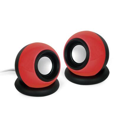 Gembird Speaker Set 2.0  Rood/Zwart