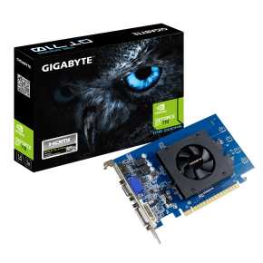 Gigabyte GV-N710D5-1GI Nvidia GeForce&regcopy; GT710 ATX version [1GB GDDR5 64-bit 954 MHz, 80mm fan, 300w]