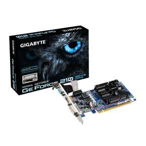 Gigabyte GV-N210D3-1GI Nvidia GeForce 210 Low Profile (Rev. 6.0) [PCIe2.0, 1GB DDR3 64-bit, 300w]