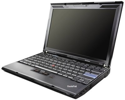 Windows XP laptop Lenovo 12.1 inch Thinkpad X200 2GB 320GB