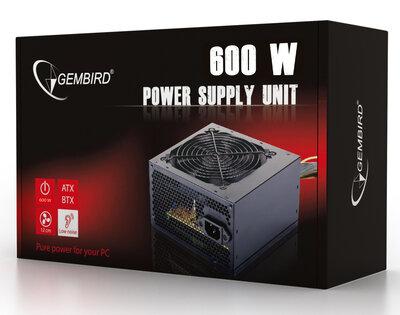 Gembird PC voeding (ATX/BTX), 600 W