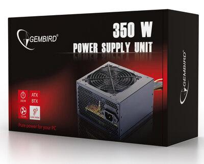 PC voeding 350Watt ATX/BTX, actieve PFC & 12cm Fan