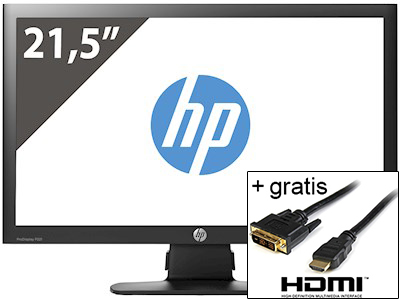 HP 21.5 inch ProDisplay P221 1920x1080 + HDMI naar DVI kabel