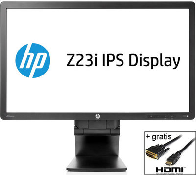 HP Z23i 23 inch 1920x1080 8ms IPS + HDMI naar DVI kabel