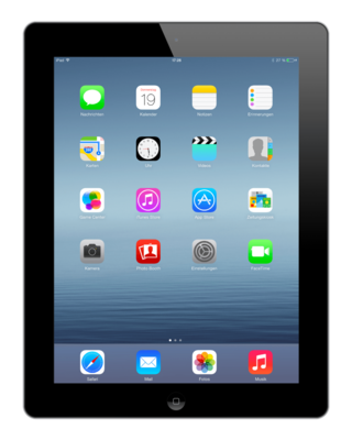 *Gratis iPad standaard* Apple iPad 4 Zwart 16GB WiFi + Garantie