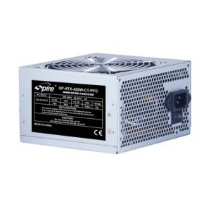 Spire SP-ATX-420W-C1-PFC Pearl [ATX, 420W 200-240VAC, 50/60Hz, 16ms, 4-pin, 20+4pin, 120mm, Silver]