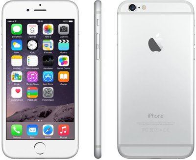 Apple Iphone 6 16GB 4,7inch simlockvrij white silver + garantie