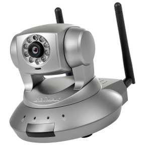* Edimax IC-7110W Wireless IP cam [Wi-Fi 802.11n, 1.3mp night&day IR-LED, Pan/tilt, SD, Silver]