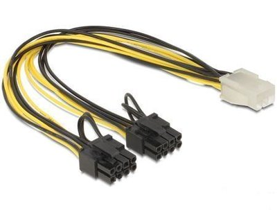 Interne voedingskabel - 0.3 meter Videokaart PCI-e