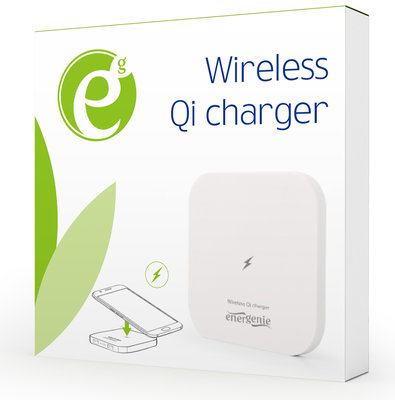 *Populair* Energenie Wireless Qi charger 5w wit op=op