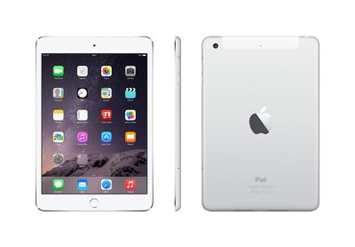 "*Gratis iPad standaard* Apple iPad Mini 3 128GB 7,9"" 2048x1536 White Silver WiFi"