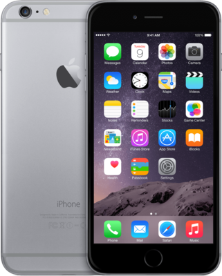 "*populair* Apple iPhone 6 plus 16GB 5"" wifi+4g simlockvrij space grey + Garantie"