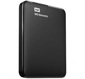 Western Digital WDBUZG0010BBK-WESN Elements SE Black External HDD [1TB, USB3.1 Gen1, 5400RPM]