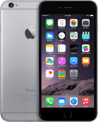 *Gratis iPhone standaard* Apple iPhone 6 Plus 64GB simlockvrij Space Grey + Garantie