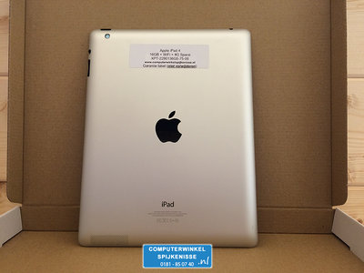 *Outlet* Apple iPad 4 Zwart 16GB WiFi 4G + Garantie