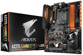 Gigabyte AX370-Gaming K7 Mainbord [ATX, AMD AM4, X370, Quad-SLI/CF, USB3.1]