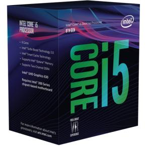 Intel BX80684I58400 Core i5 8400 [LGA1151, 2.8/ 4.0Ghz 6-Core, 9MB, HD630, 8GT/s, DDR4, 65W, Box]