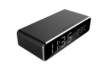 opruiming digital alarm clock (with wireless charging function) Black