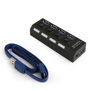 Gembird 4 poorts USB 3.0 hub met voeding