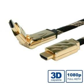 *ADJ ADJBL11045507 High Speed HDMI Cable w/ Ethernet [Gold plated, 3D Swivel, 2m, Black]